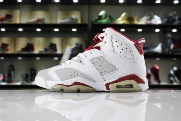 "New Air Jordan 6 VI ""Hare"" White/Pure Platinum-Gym Red 384664-113"