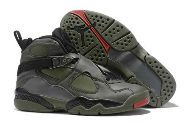 Air Jordan 8 Retro Sequoia Black-Wolf Grey-Max Orange 305381-305