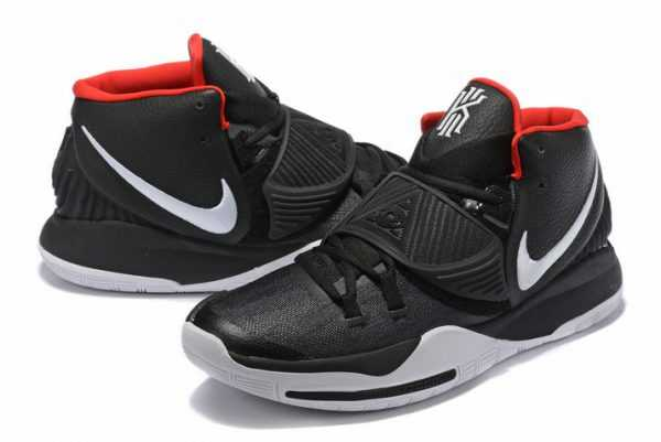 New Nike Kyrie 6 Black/White-Varsity Red Outlet