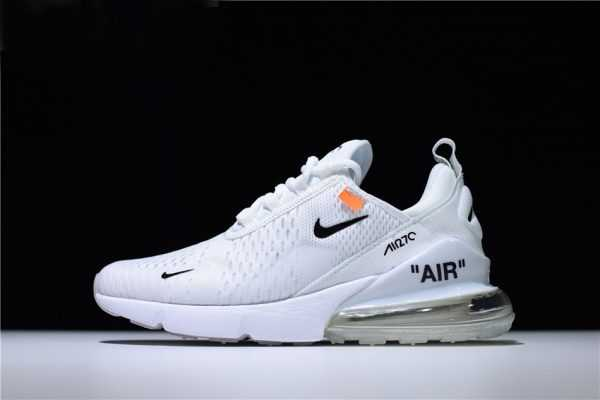 "Mens and WMNS Off-White x Nike Air Max 270 ""Triple White"" Running Shoes For Sale"