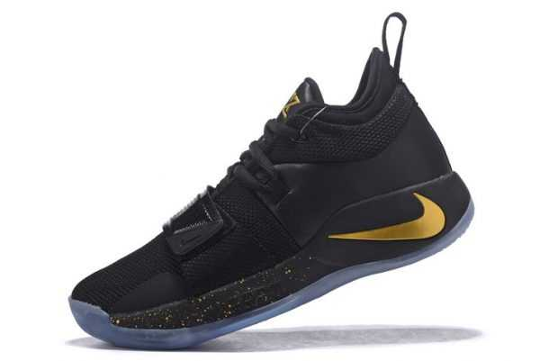 Cheap Nike PG 2.5 Black/Metallic Gold Basketball Shoes