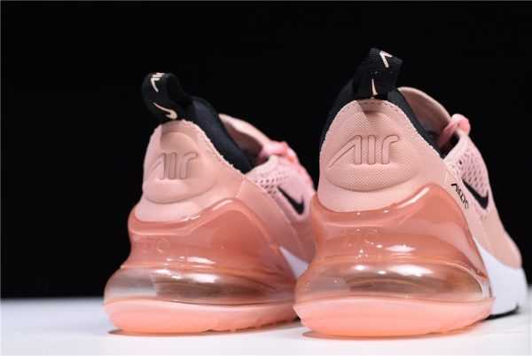 2018 Nike Air Max 270 Coral Stardust/Black-Summit White Women's Sneaker