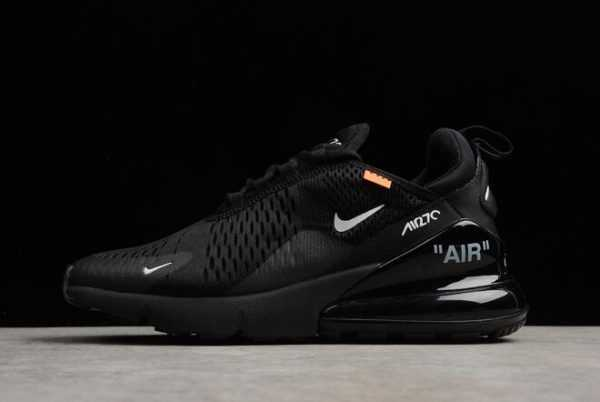 Virgil Abloh's Off-White x Nike Air Max 270 All Black Running Shoes