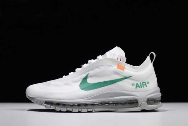 2018 Off-White x Nike Air Max 97s OG Wolf Grey-White-Menta For Sale