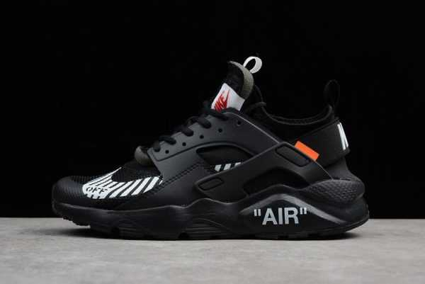 "Off-White x Nike Air Huarache Ultra ""Black"" Men's Running Shoes AA3841-001"