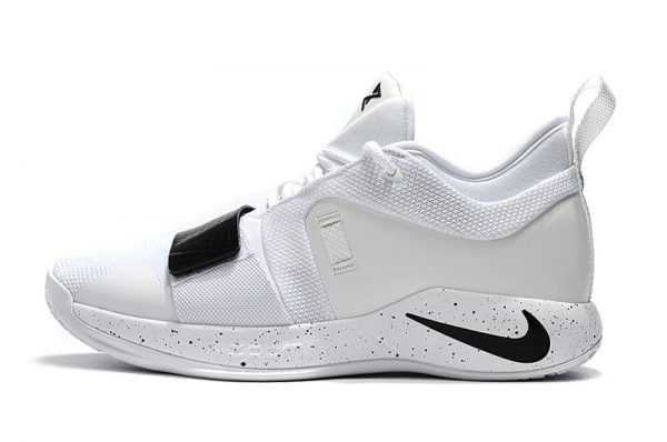 2018 Men's Nike PG 2.5 White Black Basketball Shoes Free Shipping
