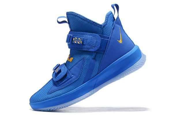 Nike LeBron Soldier 13 Royal Blue/Metallic Gold Mens Sale