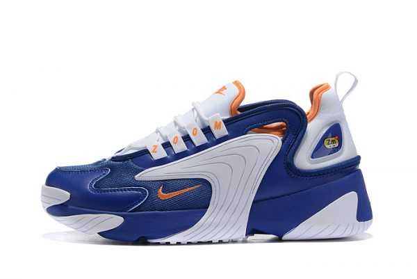 Nike Zoom 2K White/Royal Blue-Metallic Gold Trainers Mens