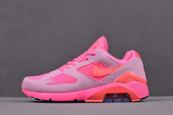 COMME des Garcons x Nike Air Max 180 Laser Pink/Solar Red-Pink Rise AO4641-602 Men's and Women's Size