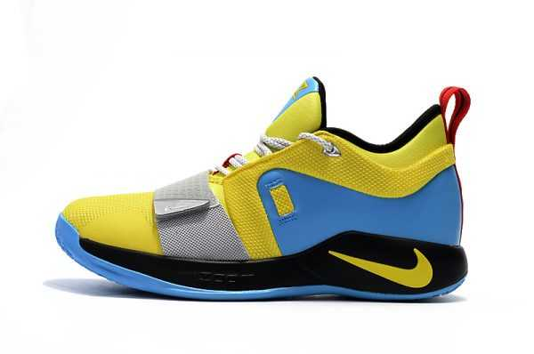 2018 Nike PG 2.5 Opti Yellow Blue Hero BQ9457-740