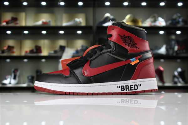 "OFF-WHITE x Air Jordan 1 High OG 10X ""Bred"" Black/Varsity Red-White AA3834-023"